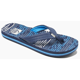 Reef Ahi Sandals Boys, blue horizon waves